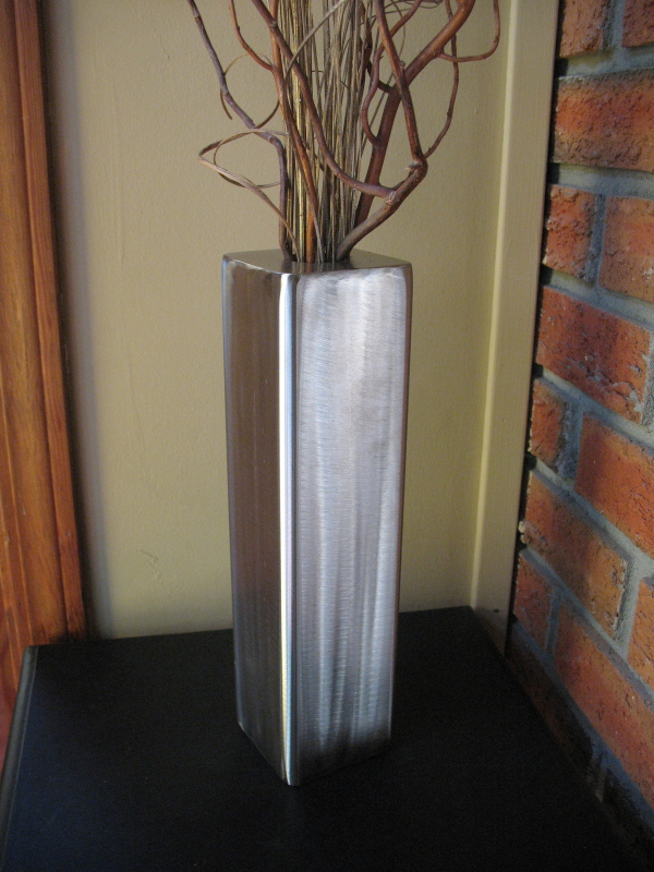 Tall Square Vase Inoxious Design Art Sculpture Jewelry By Dwayne